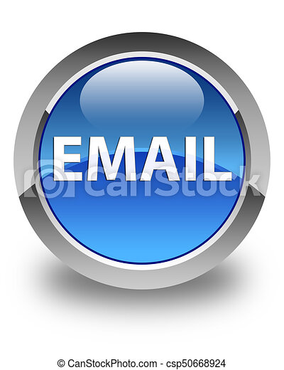 Email glossy blue round button - csp50668924