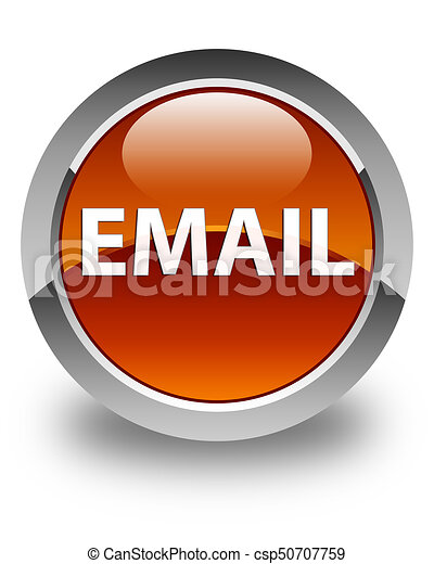 Email glossy brown round button - csp50707759