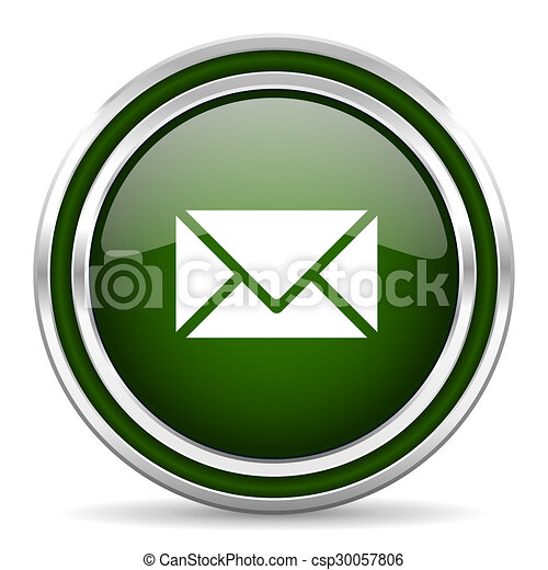 email green glossy web icon - csp30057806