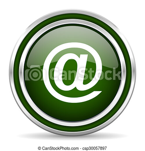 email green glossy web icon - csp30057897