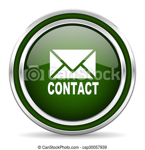 email green glossy web icon - csp30057939