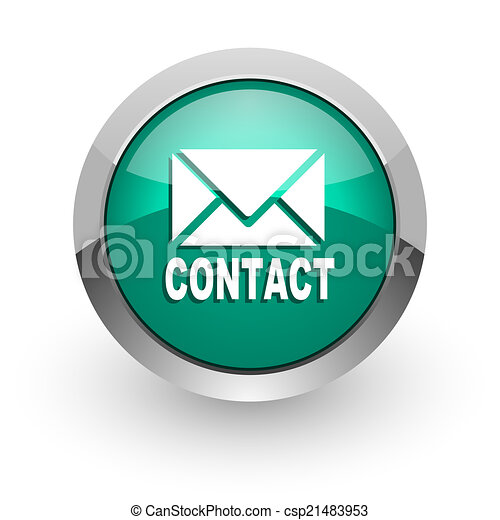email green glossy web icon - csp21483953