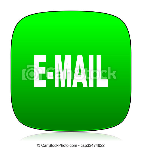 email green icon - csp33474822