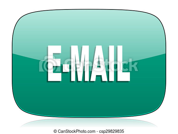 email green icon - csp29829835