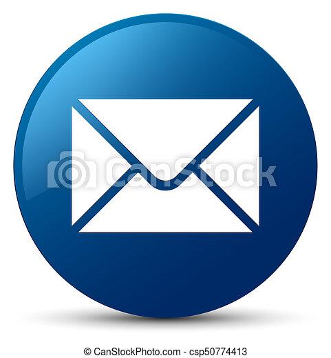 Email icon blue round button - csp50774413