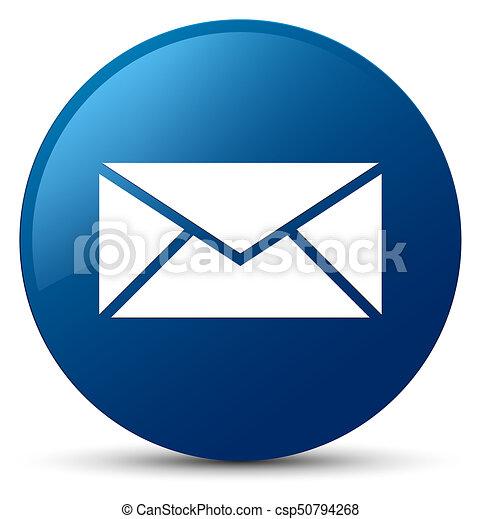 Email icon blue round button - csp50794268