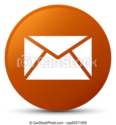 Email icon brown round button - csp50371409