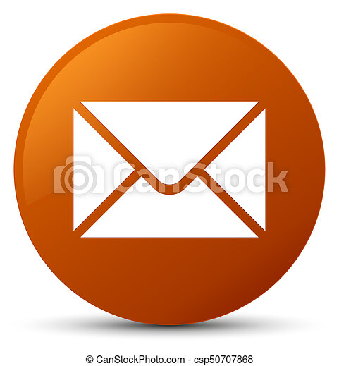 Email icon brown round button - csp50707868