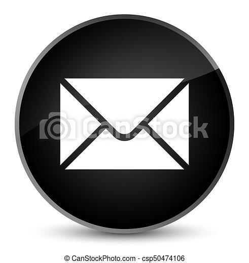 Email icon elegant black round button - csp50474106