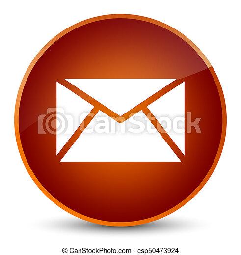 Email icon elegant brown round button - csp50473924