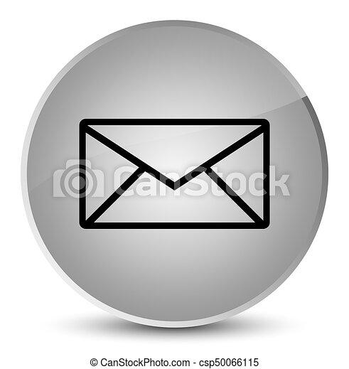 Email icon elegant white round button - csp50066115