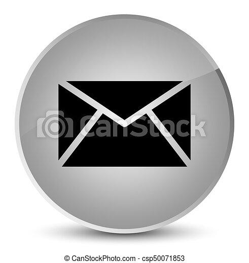 Email icon elegant white round button - csp50071853
