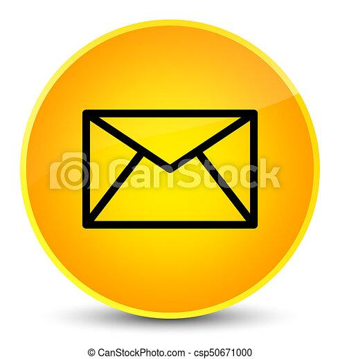 Email icon elegant yellow round button - csp50671000
