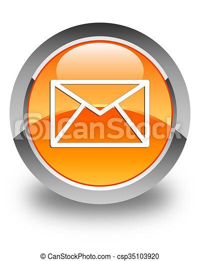 Email icon glossy orange round button 4 - csp35103920