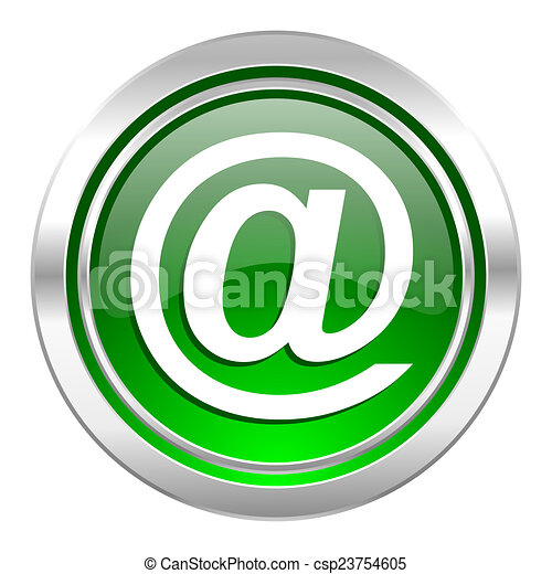 email icon, green button - csp23754605