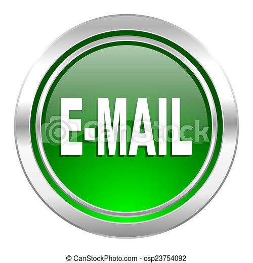 email icon, green button - csp23754092