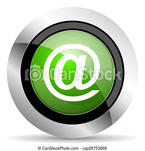email icon, green button - csp28753669