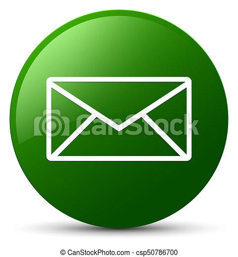 Email icon green round button - csp50786700