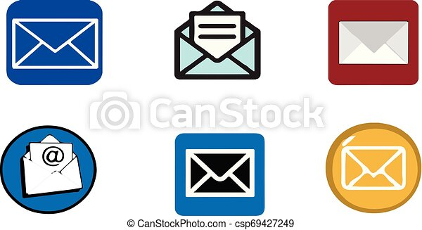 email icon on white background - csp69427249