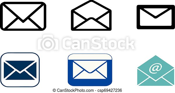 email icon on white background - csp69427236