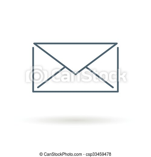 Email icon on white background - csp33459478