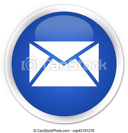 Email icon premium blue round button - csp43181376