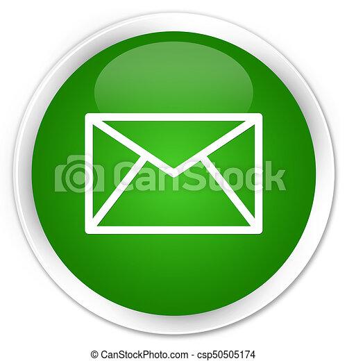 Email icon premium green round button - csp50505174