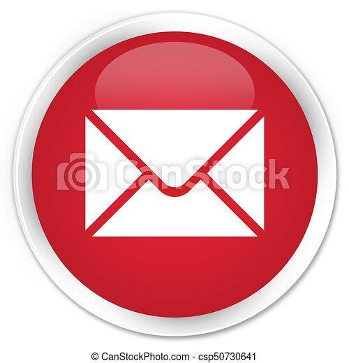 Email icon premium red round button - csp50730641