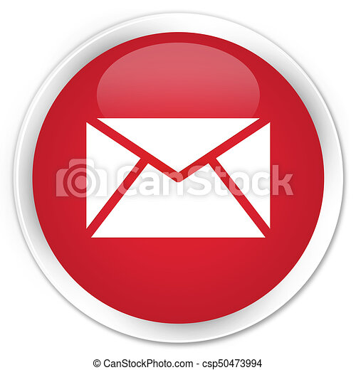 Email icon premium red round button - csp50473994