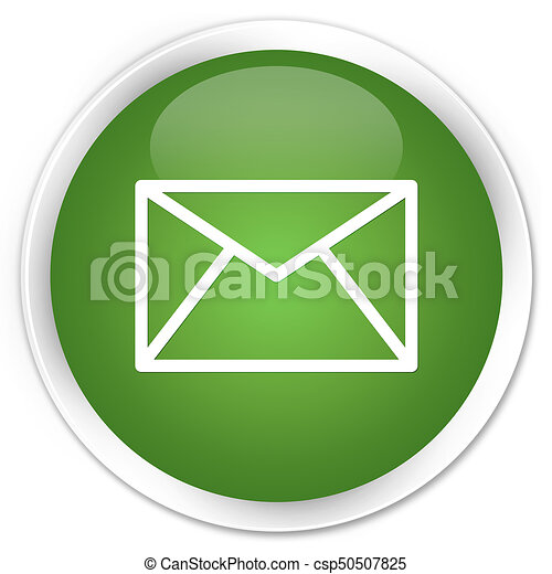 Email icon premium soft green round button - csp50507825