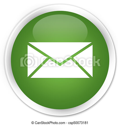 Email icon premium soft green round button - csp50073181