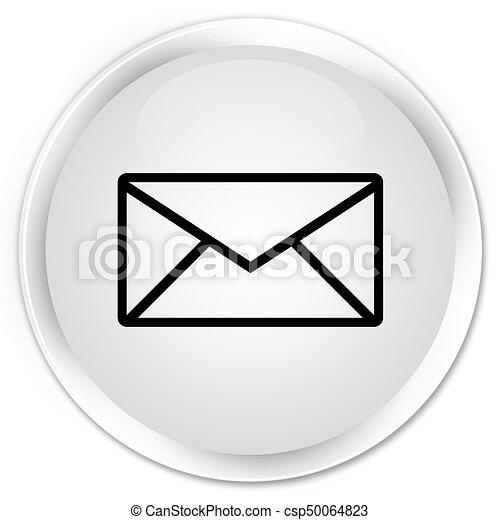 Email icon premium white round button - csp50064823
