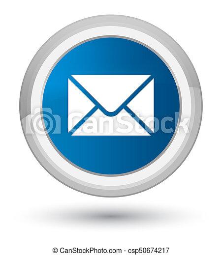 Email icon prime blue round button - csp50674217