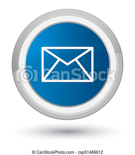Email icon prime blue round button - csp51466612