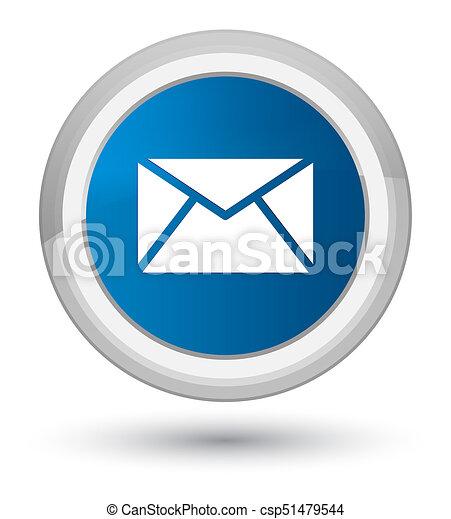 Email icon prime blue round button - csp51479544