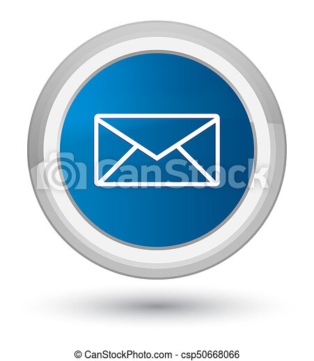 Email icon prime blue round button - csp50668066
