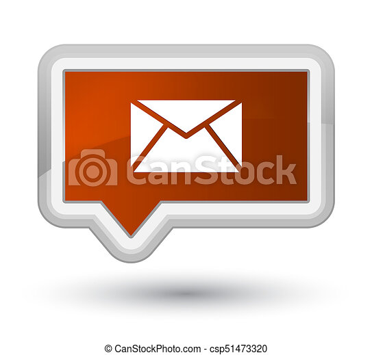 Email icon prime brown banner button - csp51473320
