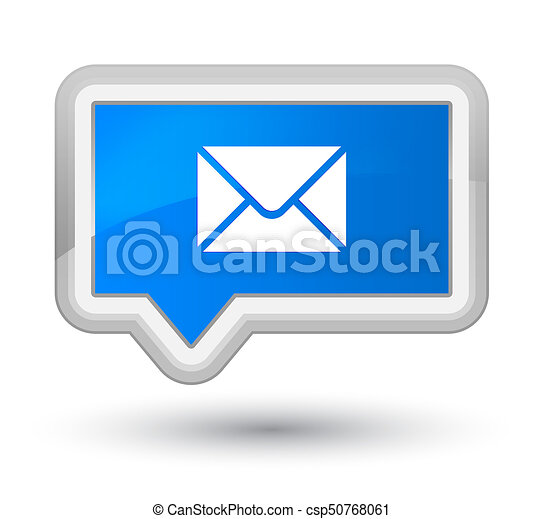 Email icon prime cyan blue banner button - csp50768061