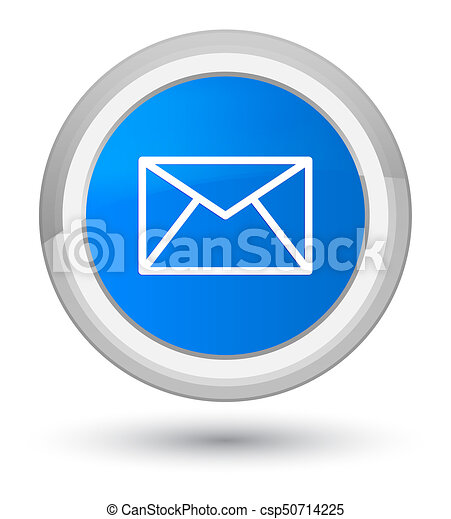 Email icon prime cyan blue round button - csp50714225