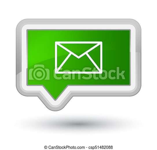 Email icon prime green banner button - csp51482088