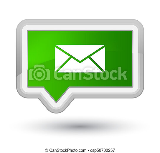 Email icon prime green banner button - csp50700257