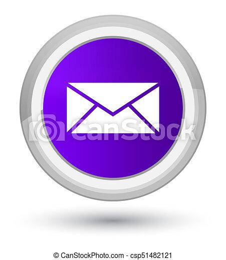 Email icon prime purple round button - csp51482121