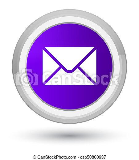 Email icon prime purple round button - csp50800937