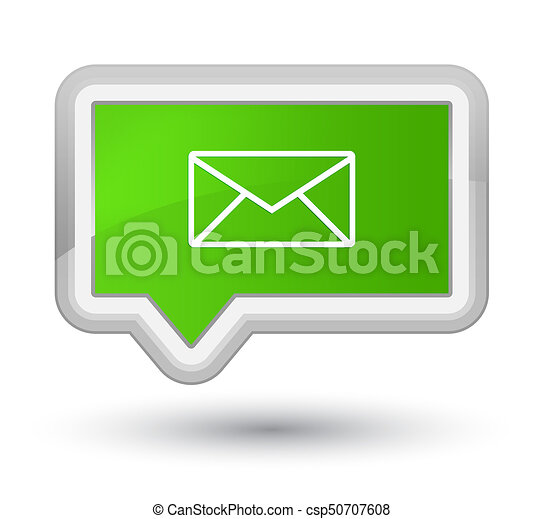 Email icon prime soft green banner button - csp50707608