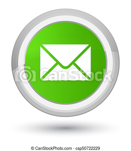 Email icon prime soft green round button - csp50722229