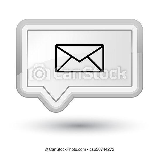 Email icon prime white banner button - csp50744272