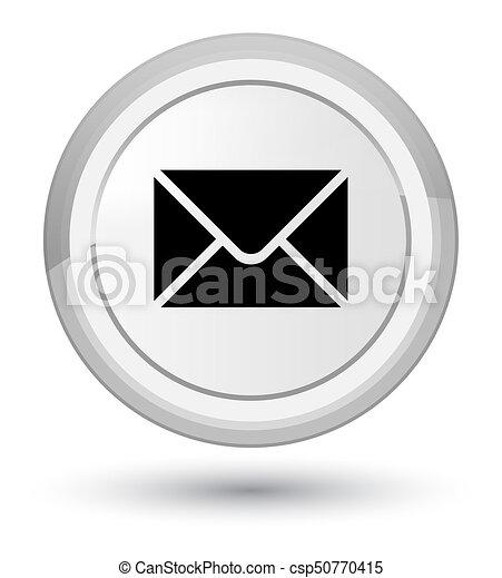 Email icon prime white round button - csp50770415