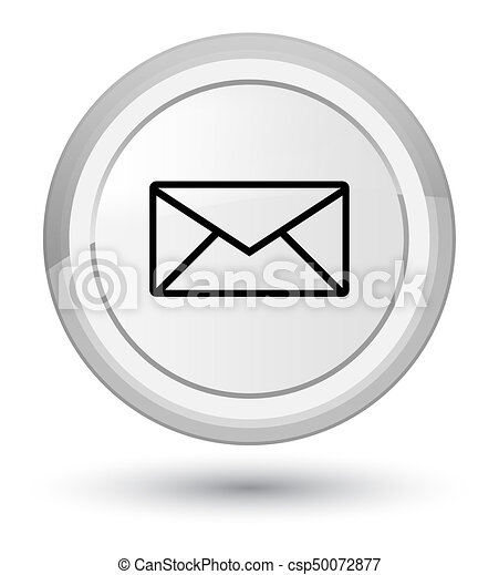 Email icon prime white round button - csp50072877