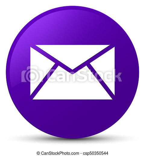 Email icon purple round button - csp50350544