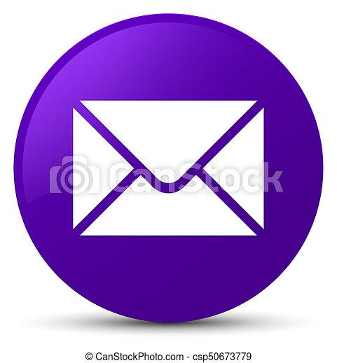 Email icon purple round button - csp50673779